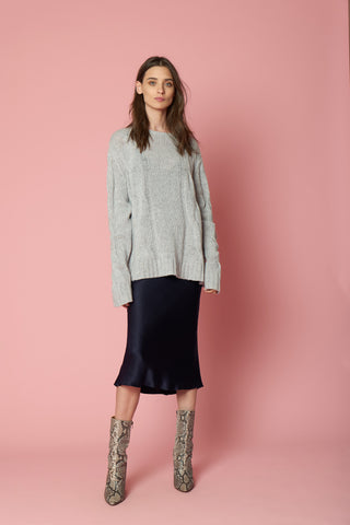 KATE CASHMERE PULLOVER | GREY