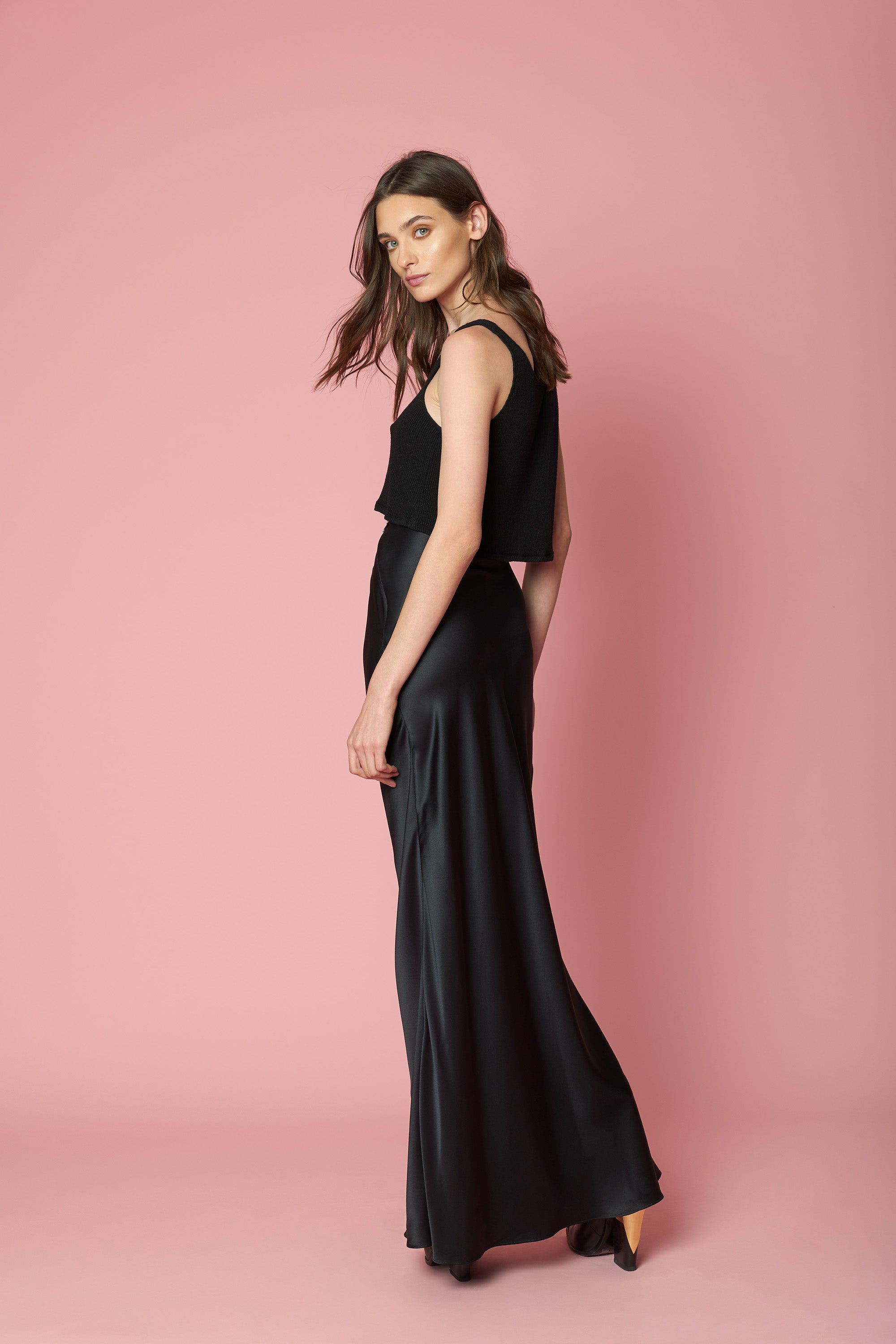 VALENTINA HIGH WAISTED SKIRT | BLACK