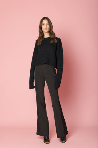 MERCY SEQUINED CASHMERE PULLOVER | BLACK - FINAL SALE