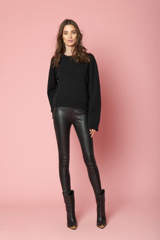 AMY CASHMERE PULL OVER | BLACK