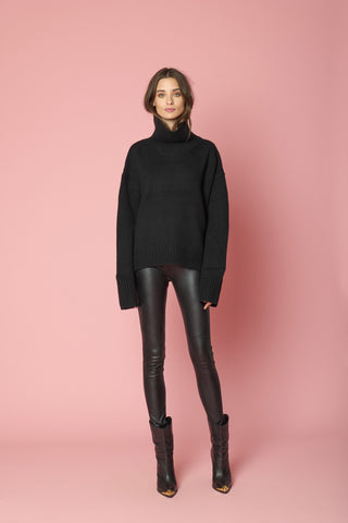 SCARLETT TURTLE NECK | BLACK