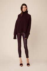 SCARLETT CASHMERE TURTLENECK | BORDEAUX