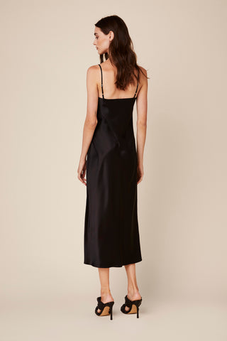 TAYLOR SILK DRESS | BLACK