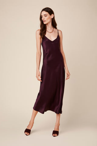 TAYLOR SILK DRESS | BORDEAUX - Final Sale