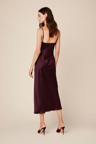 TAYLOR SILK DRESS | BORDEAUX
