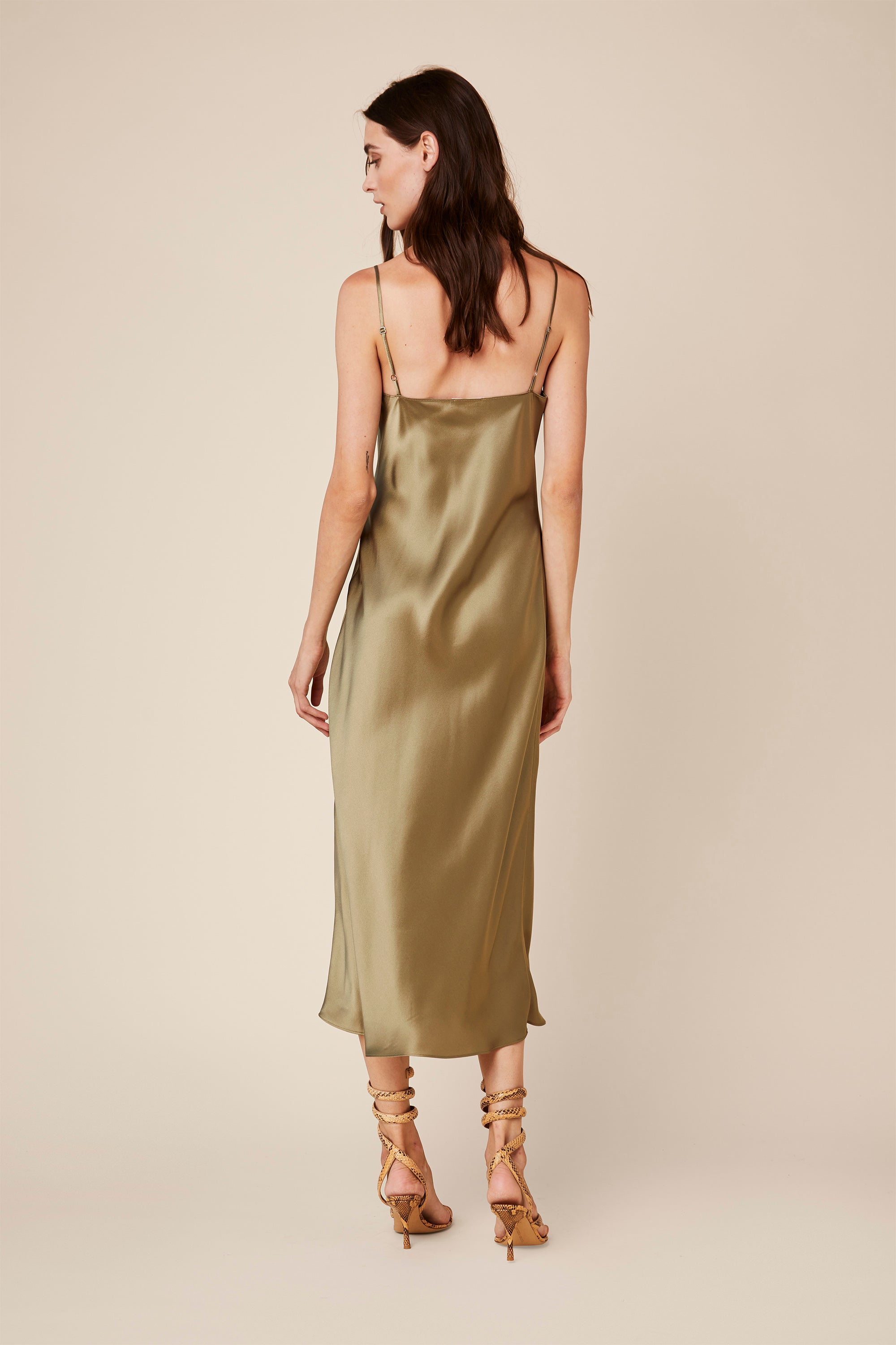 TAYLOR SILK DRESS | JUNIPER - Final Sale