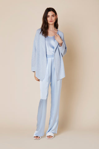 TESSA CASHMERE SWEATER | AZURE - Final Sale