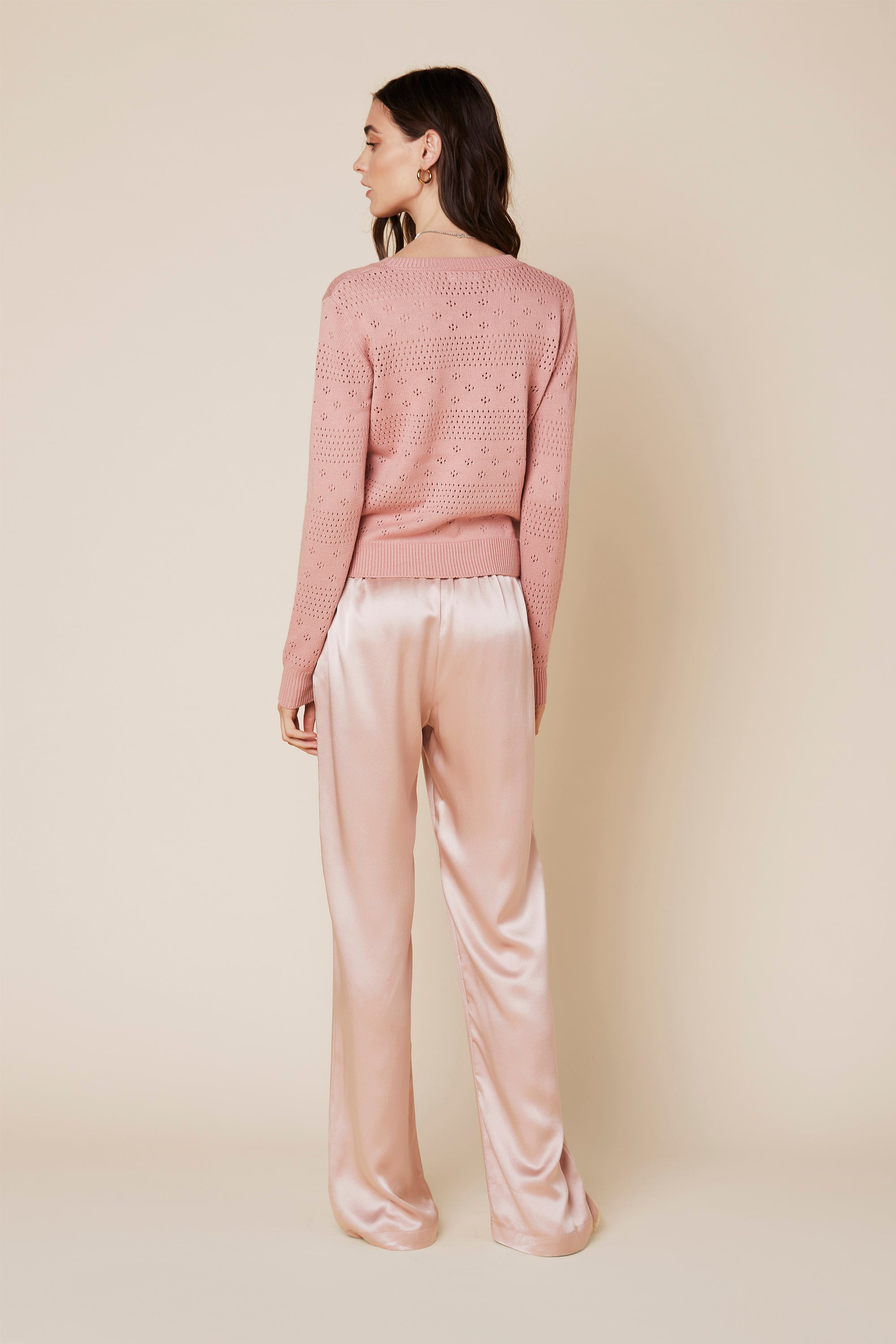 ZURI CASHMERE SWEATER | CHERRY BLOSSOM - Final Sale