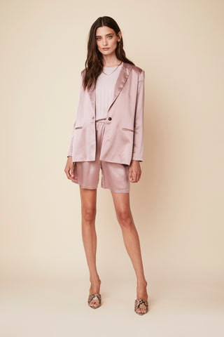 JAMES SILK BLAZER | LILAC