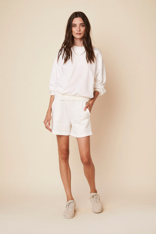JULES  FLEECE SWEATSHORTS | WHITE