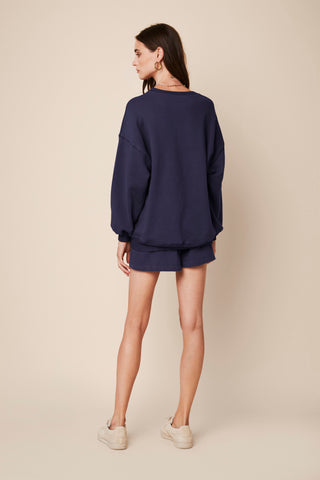 FRANKIE SWEATSHIRT | DENIM BLUE - Final Sale