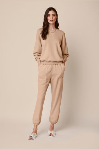 MASON FLEECE SWEATPANTS | BURNT SUGAR