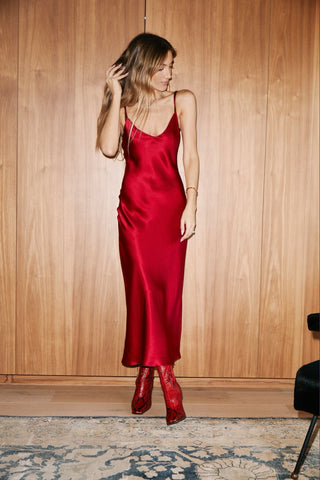 TAYLOR SLIP DRESS | RED or BLACK