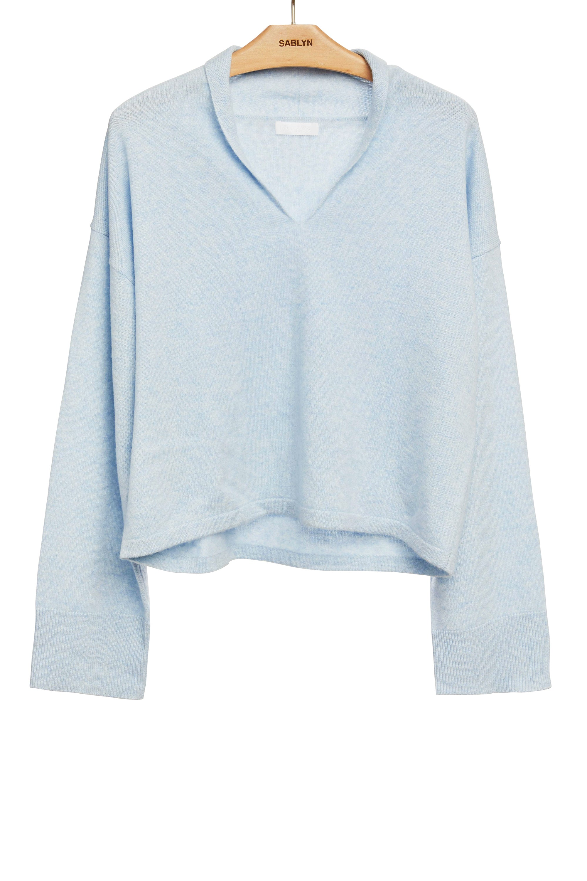 PARIS CASHMERE SWEATER | AZURE - Final Sale