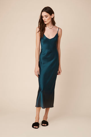 TAYLOR SILK CAMI DRESS | TOPAZ