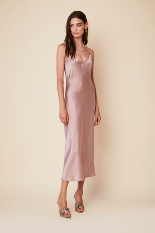 TAYLOR SILK SLIP DRESS | LILAC - Final Sale