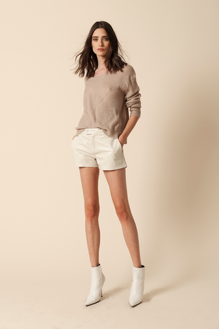 VIOLET-MOHAIR PULLOVER | CAMEL