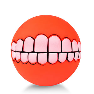 Teeth Squeaky Ball - Furry Buddy
