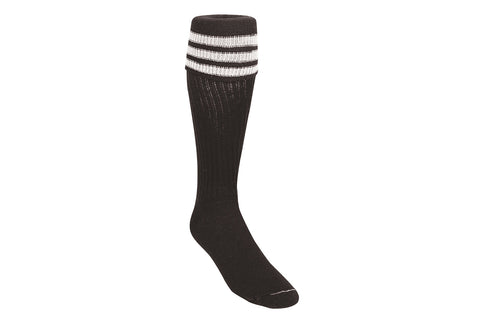 TCK FINALE 3 STRIPE REFEREE SOCK