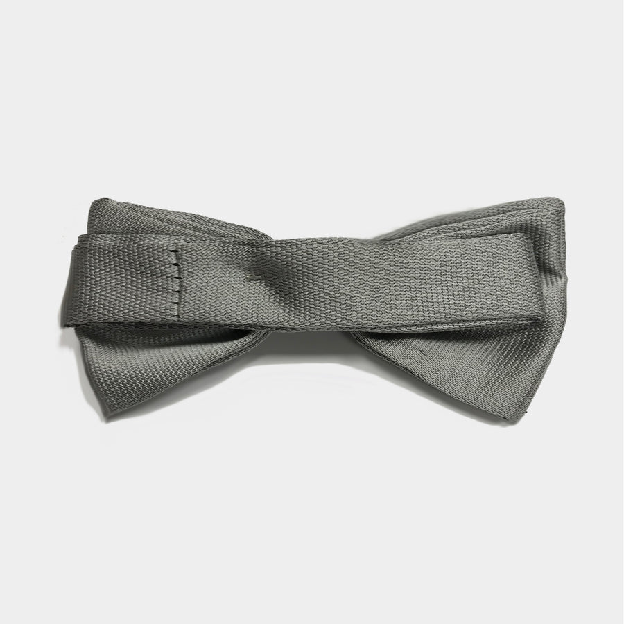 Silver Wedding Bow Tie