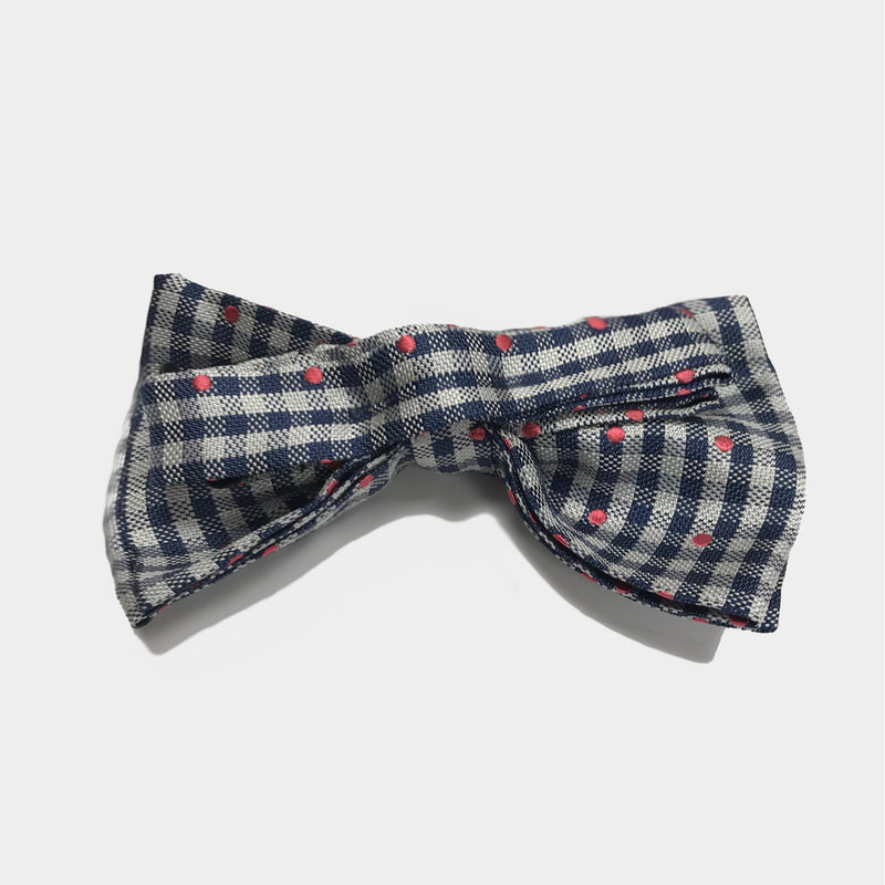 Checkers Sprinkled Bow Tie