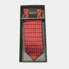 Butteflies in Red Tie & Pocket Square Set