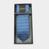 Butterflies in Cobalt Blue Tie & Pocket Square Set