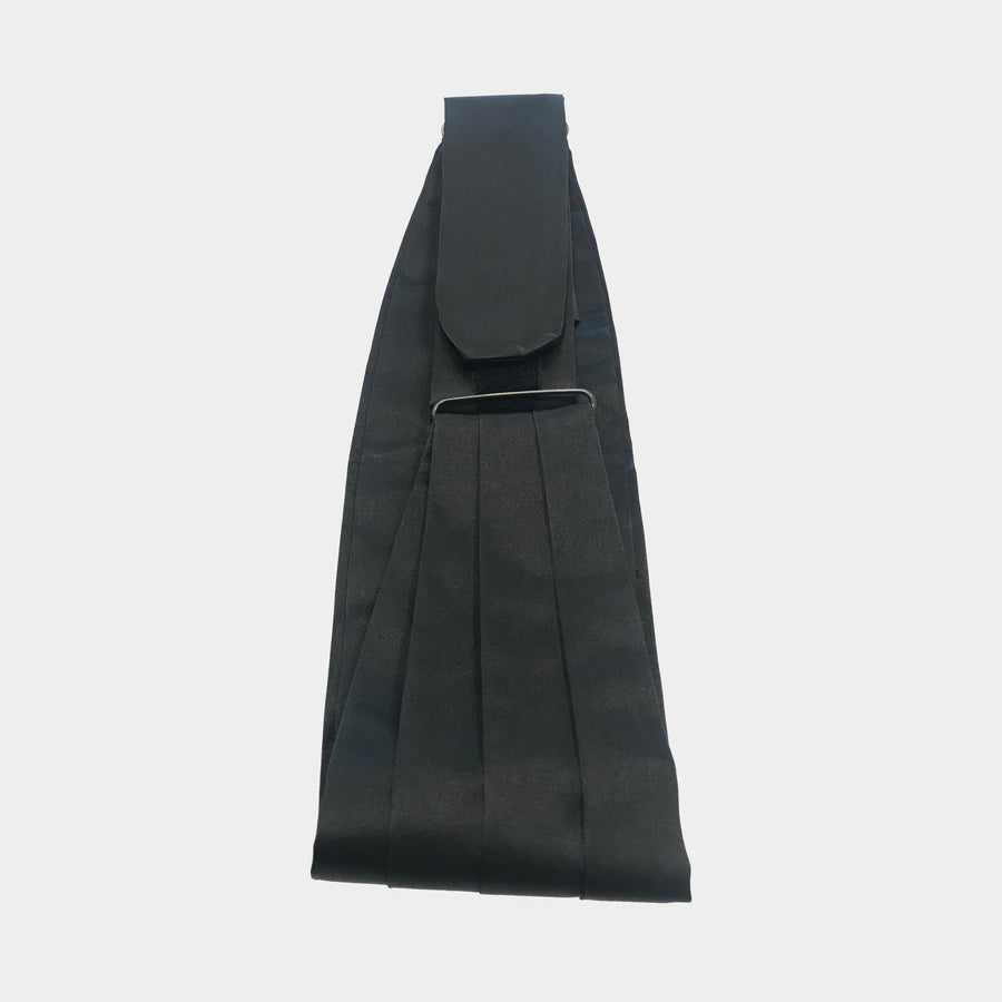 Black Silk Cummerbund set