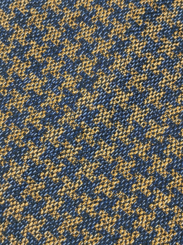 Dizzy Houndstooth Brown and Blue tie