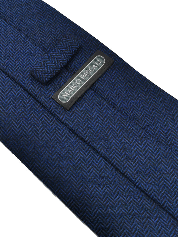 Herringbone Tie in Navy Blue
