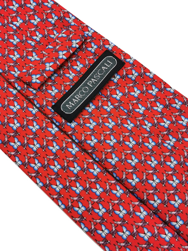 Cricket & Butterflies Red tie