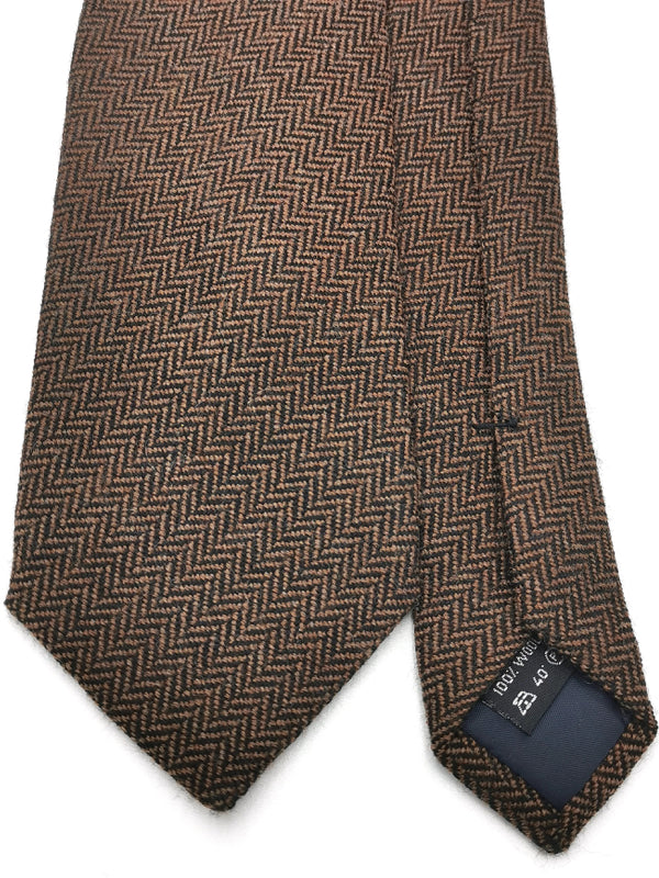 Herringbone Tie in Brown