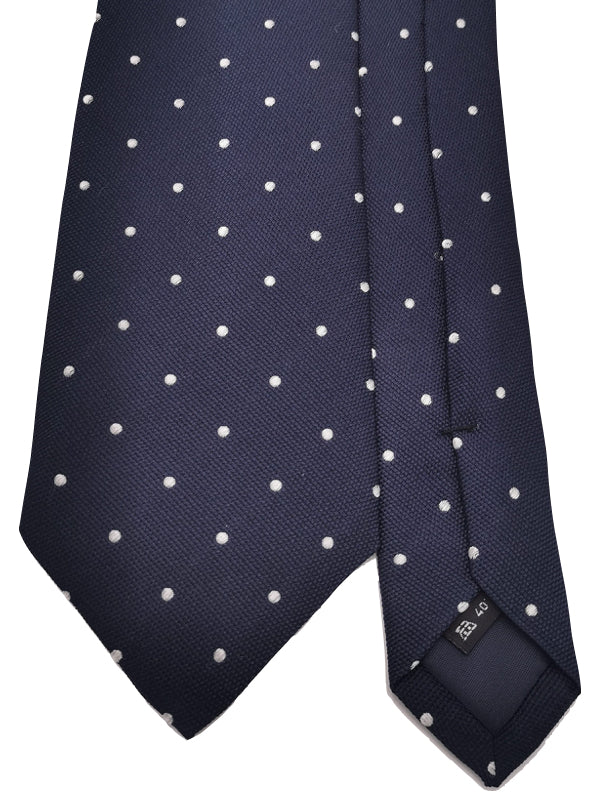 White Polka Dots In Navy