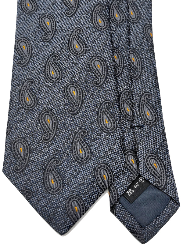 Grey Denim Paisley tie