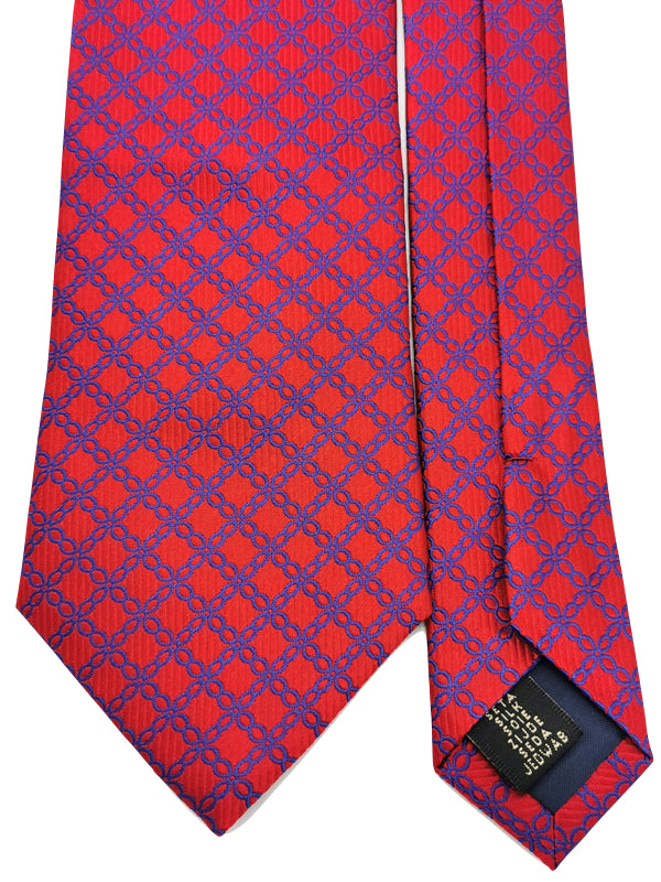 Repeated Cross Loops Red tie