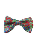 Floral  Bow Tie in Red