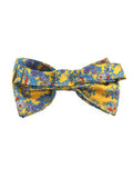 Floral  Bow Tie in Yellow