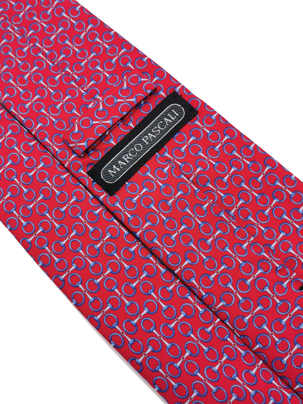 Luxury Hoops Red Silk tie