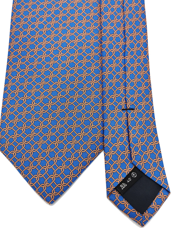 Clean Chain Pattern Silk tie