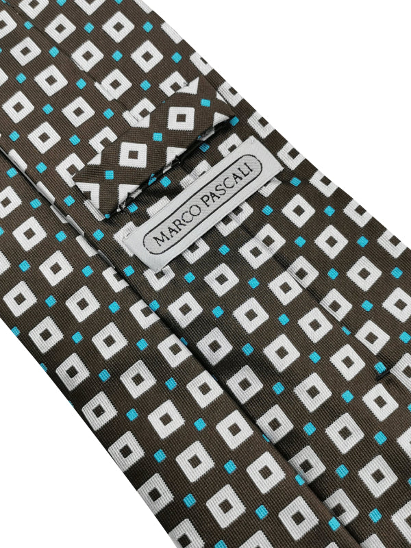 Square geometry Brown tie