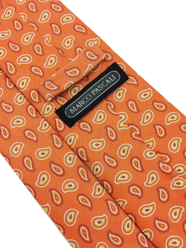 Silk Jacquard Mixed Orange