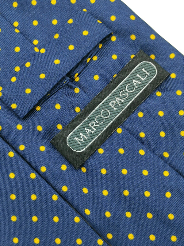 Butterscotch Polka Dots In Navy