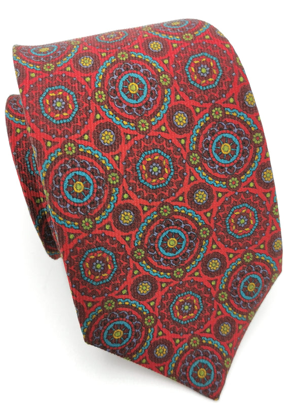 Stained Glass Medallions Red tie