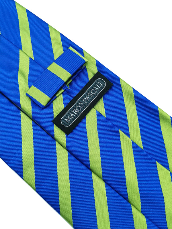 Lingering Lime Stripe tie keeper loop