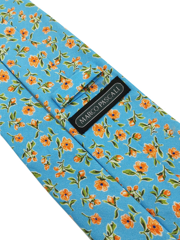 Sky Blue Spring Bouquet tie keeper loop