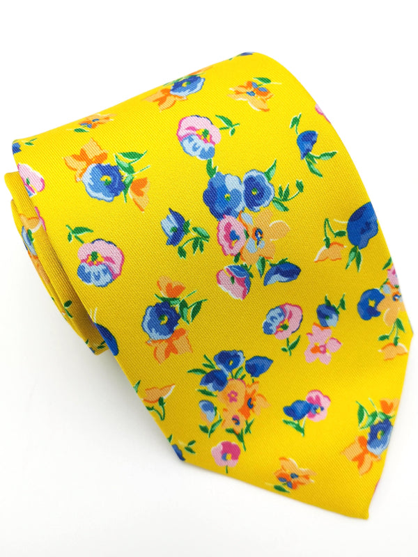 Rolled Yellow Spring Garden tie