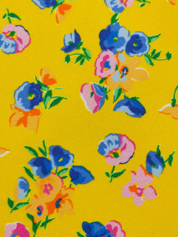 Yellow Spring Garden tie fabric zoom