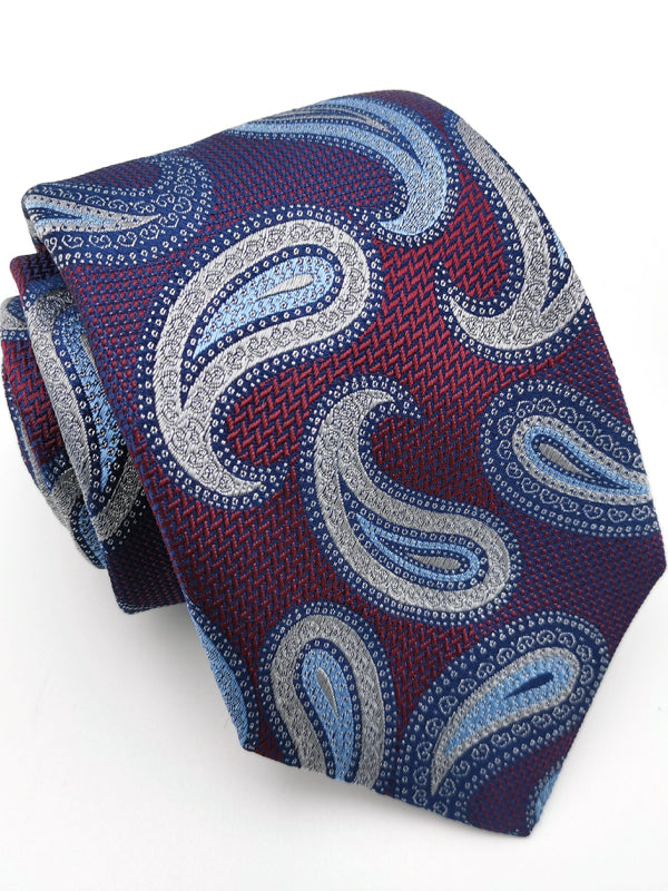 Rolled Paisley Rendezvous tie