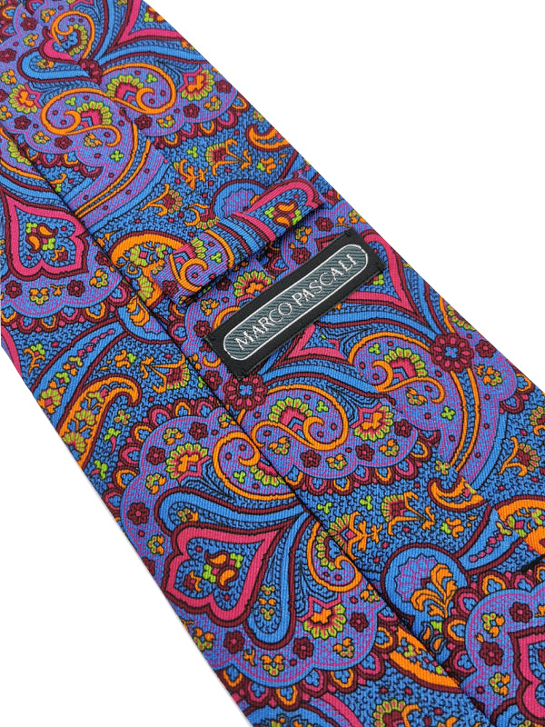 Paisley Neon Blossoms tie keeper loop