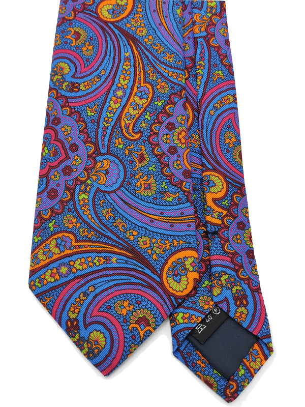 Paisley Neon Blossoms tie front blade